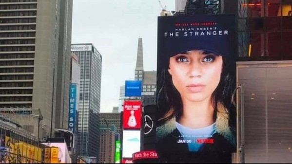 TIMES SQUARE NYC BILLBOARD - THE STRANGER