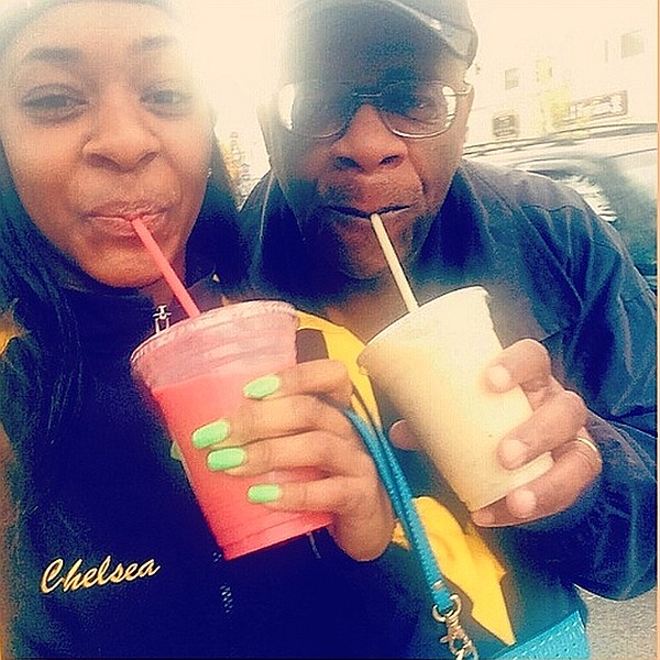 GregoryBurrus Sharing Smoothies with Chelsea Burrus at Dancing Blender Opening 640.jpg