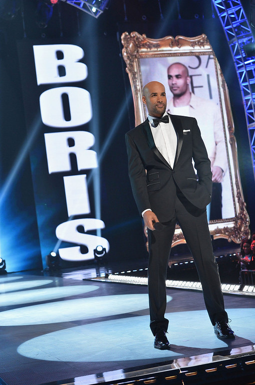. Host Boris Kodjoe on stage at BET\'s Rip The Runway 2013:Show at Hammerstein Ballroom on February 27, 2013 in New York City.  (Photo by Rick Diamond/Getty Images for BET\'s Rip The Runway)