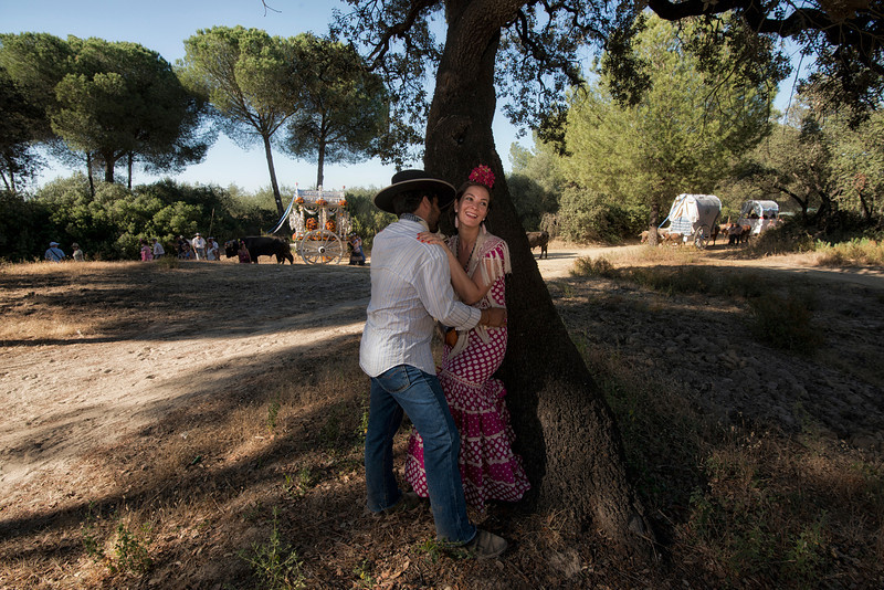 couple kissing,el rocio,andalucia,spain.jpg