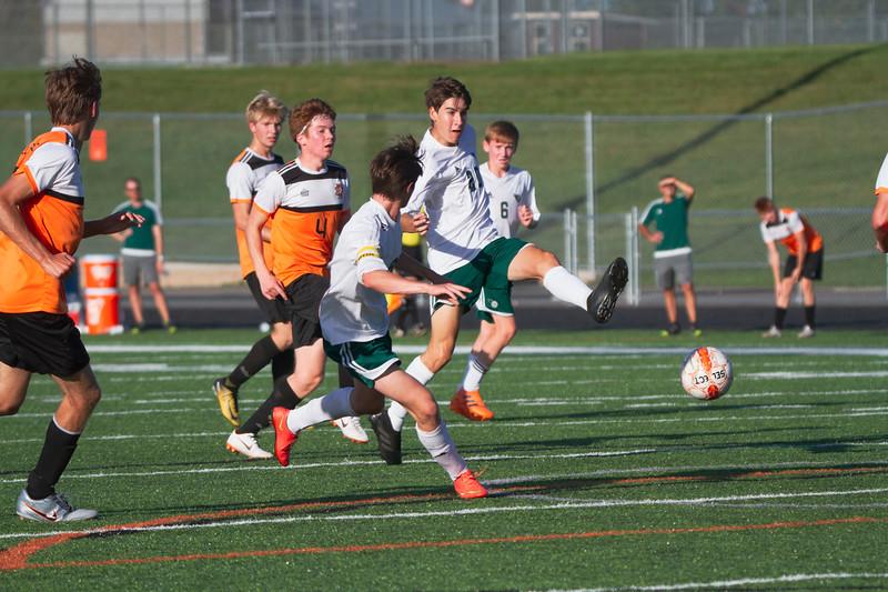 Holy Family Varsity Soccer vs. Delano, 9/19/19: Finn Dowling '21 (20)