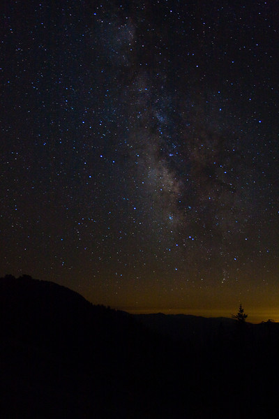 Milky Way Galaxy as seen from Mammoth