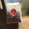.79ctw Oval Padparadscha Sapphire Bezel Stud Earrings 5