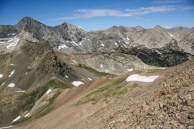14er's Blanca and Ellingwood as seedn from 14,042' Mount Lindsey, Sangre de Cristo Range, CO