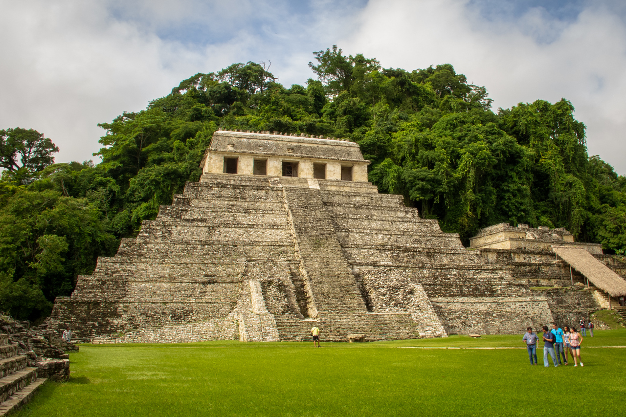 Pyramid at Palenque Mayan Ruin Site