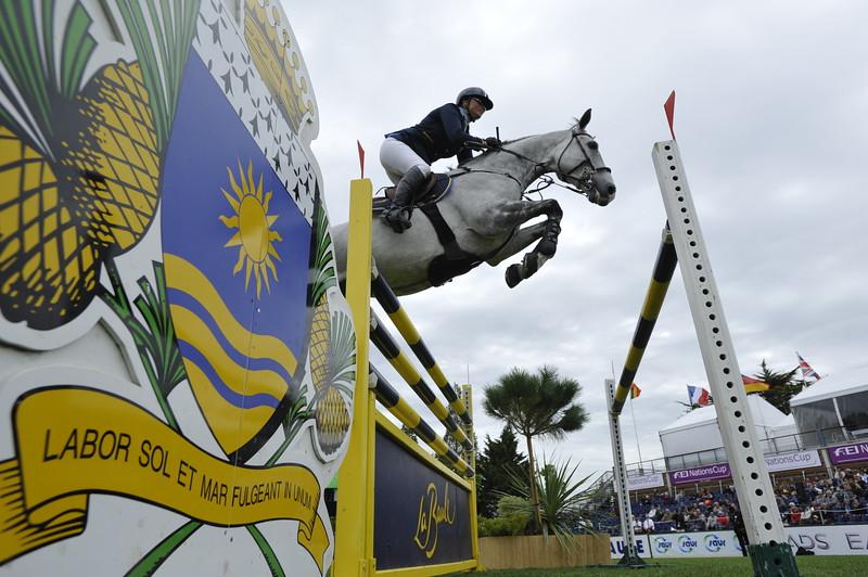 JUMPING : Lisen FREDRICSON sur Matrix COUPE DES NATIONS 2012 -  CSIO DE LA BAULE 2012 - PHOTO : © CHRISTOPHE BRICOT
