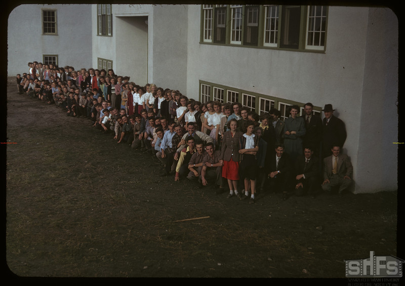 Sturgis composite high school - students and staff; 40 students from town and 64 from rural area.  Sturgis.  09/19/1949