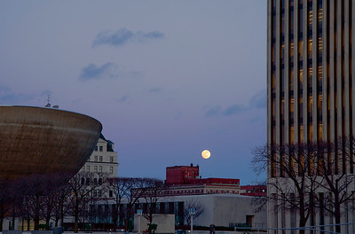 Empire State Plaza Moon Photos