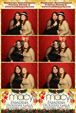 2013 Macy's Pasadena Holiday Gala - Photo Booth Pictures