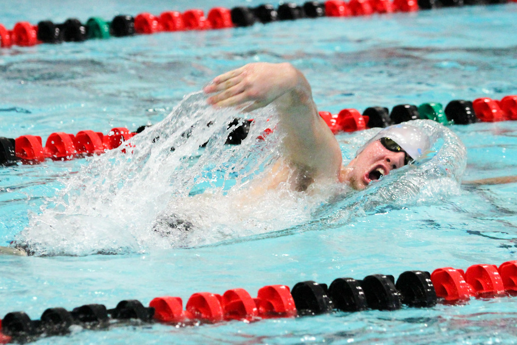 . Barry Booher - The News-Herald James Godshall ( South ) 500 yard freestyle.
