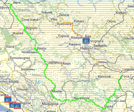 June 26th, 2013 - Jajce to Foca