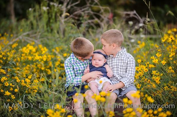 Fall Kids Photos (KJ is 3 Months)