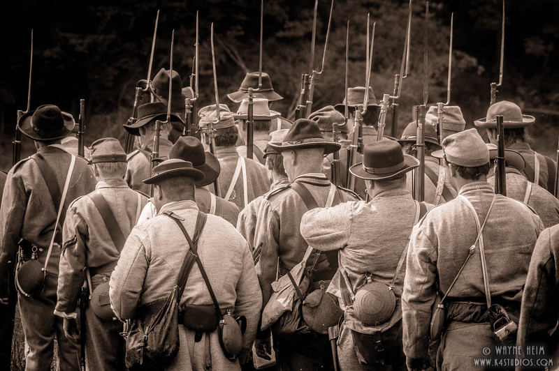 Marching into Battle    Black & White Photography by Wayne Heim