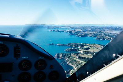 Flight over Waiheke
