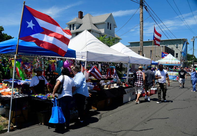 7/21/2018 Mike Orazzi | Staff Tthe annual  Puerto Rican Festival held on High Street in New Britain Saturday.