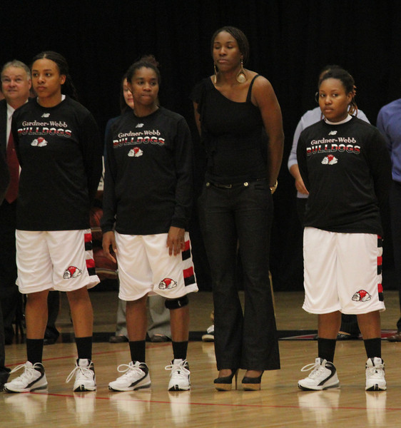 From left: number 15, Chariah Harris, number 2, KiKi Smith, number 22, Kim McKenney, and number 24, Mayhana Dunovant