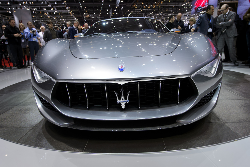 Description of . The new Maserati Alfieri concept car is displayed at the Italian carmaker's booth during the press day of the Geneva Motor Show on March 4, 2014.  FABRICE COFFRINI/AFP/Getty Images