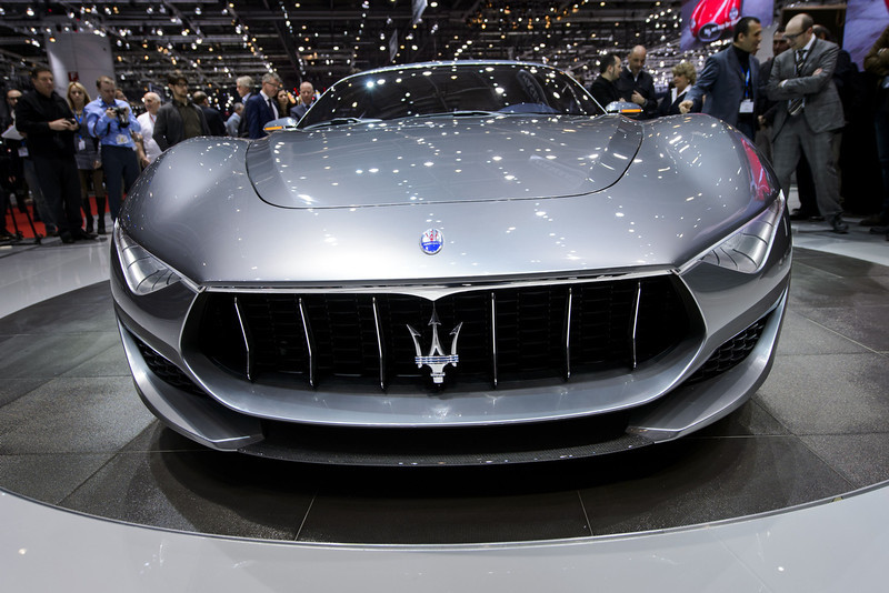 . The new Maserati Alfieri concept car is displayed at the Italian carmaker\'s booth during the press day of the Geneva Motor Show on March 4, 2014.  FABRICE COFFRINI/AFP/Getty Images