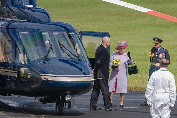 The Queen Departure