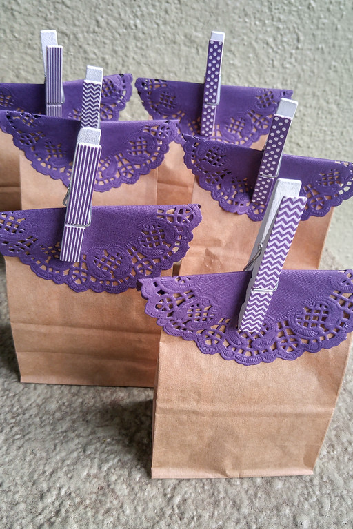 Gift bags! Photos from our Downton Abbey Tea Party