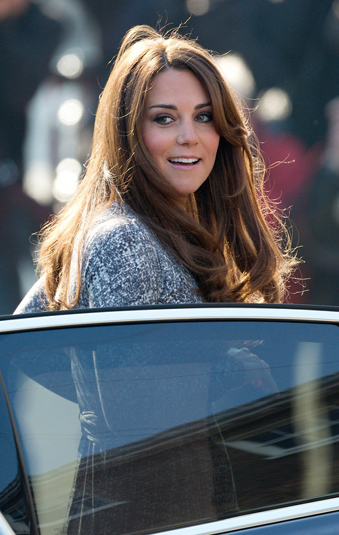 """. Britain\'s Catherine, Duchess of Cambridge, arrives at the Hope House charity in south London on February 19, 2013. British novelist Hilary Mantel faced criticism after describing Prince William\'s wife Catherine as a \""""shop window mannequin\"""" with a \""""plastic smile\"""" whose only purpose is to breed.  ANDREW COWIE/AFP/Getty Images"""