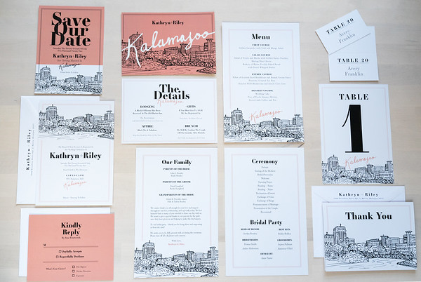Product Photography | The Printed Event (Wedding Invites) Kalamazoo Collection
