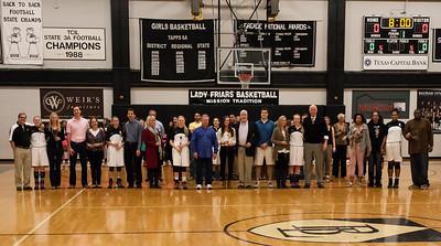 Senior Night - Lady Friars Basketball vs PCA 02.14.14
