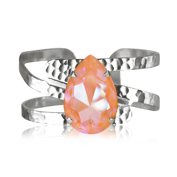 Perfect Drop Bangle : Peach Delite Rhodium.jpg