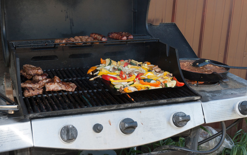 Meat, veggies, and beans