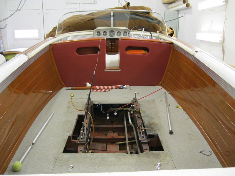 View with engine removed.
