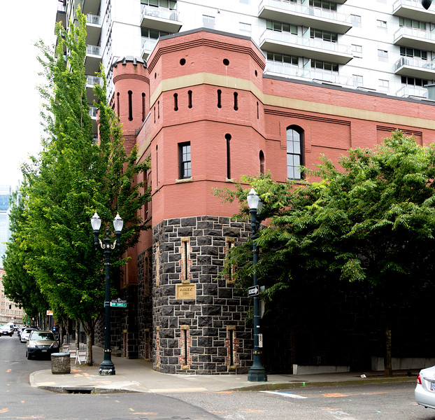 The old Portland Armory is now Portland Center Stage, theater.
