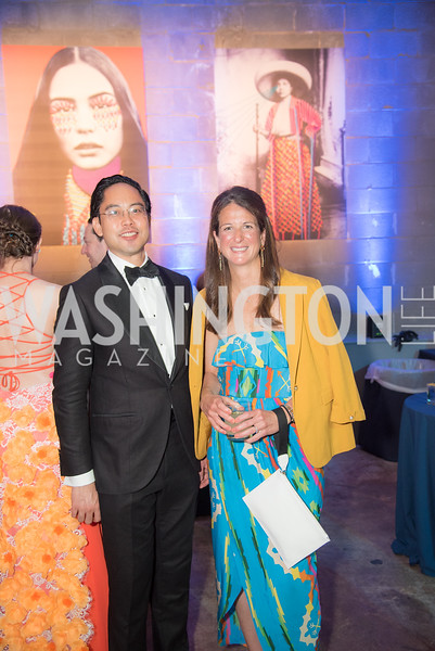 Chris Wang, Eliza Young, The Phillips Collection, Annual Gala Afterparty, Contemporaries Bash, Union Market Dock 5. May 10, 2019, Photo by Ben Droz.