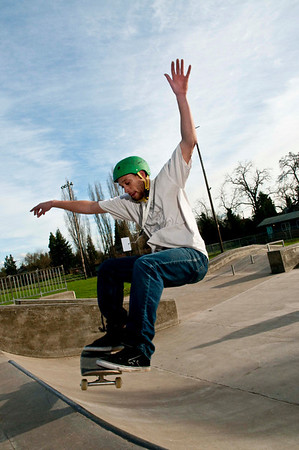 Skateboarders with helments