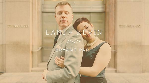 LANI + KEVIN ////// BRYANT PARK