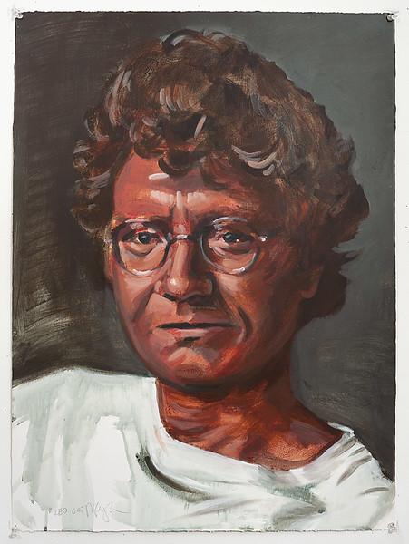 Portrait study - Leo W; acrylic on paper, 22 x 30 in, 1995