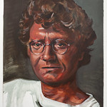 Portrait study - Leo W; acrylic on paper, 22 x 30 in, 1995