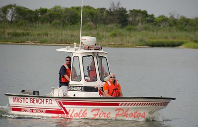 Mastic Beach Boat Fire [7.1.16]