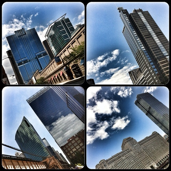 In #Chicago today? Get outside and look up at the postcard-perfect blue #skies and #skyscrapers