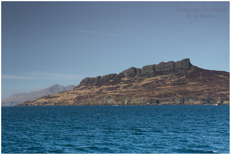 An Sgurr ridge from the Sound of Eigg