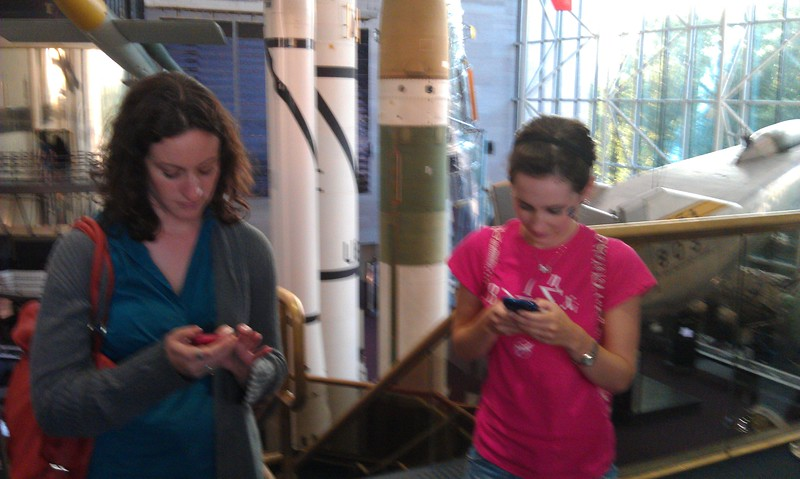 @museums365 and @KelleyApril tweet at the at the Smithsonian's National Air and Space Museum