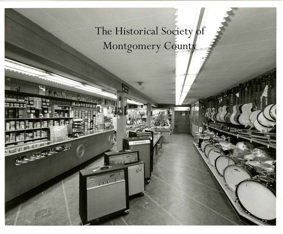 . This photo from the Historical Society of Montgomery County shows McCoy\'s Music Store in Norristown in, what they believe is, the 1960s.