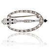 Art Deco Diamond and Onyx Brooch 0