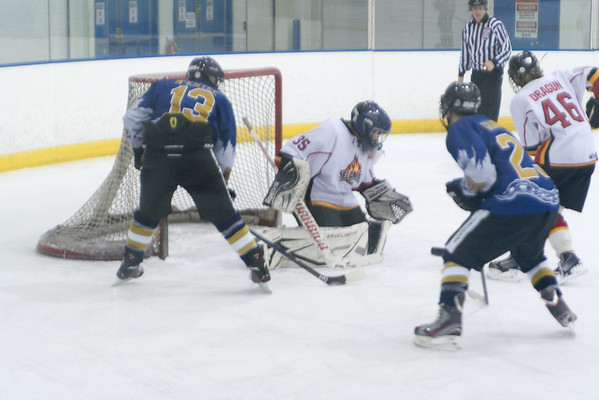 Hatfield Ice Dogs 16A White at Lehigh Valley Flames Red 12-21-2013
