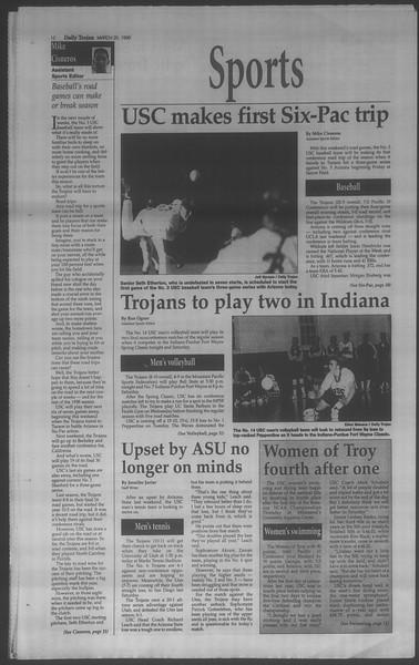 Daily Trojan, Vol. 133, No. 41, March 20, 1998