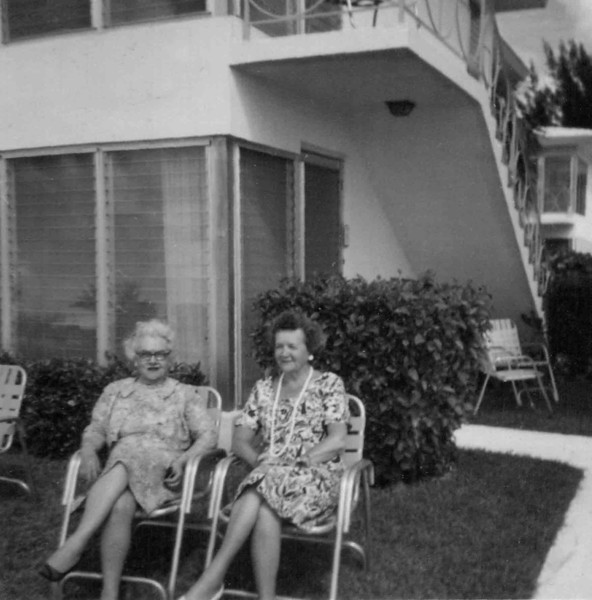 Sisters-in-Law Frances McNamee Hill, and Gladys Hill Johnson, in Ft. Lauderdale, Florida, 1963