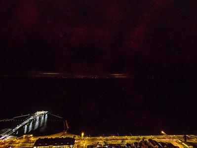 Night North Beach Drone
