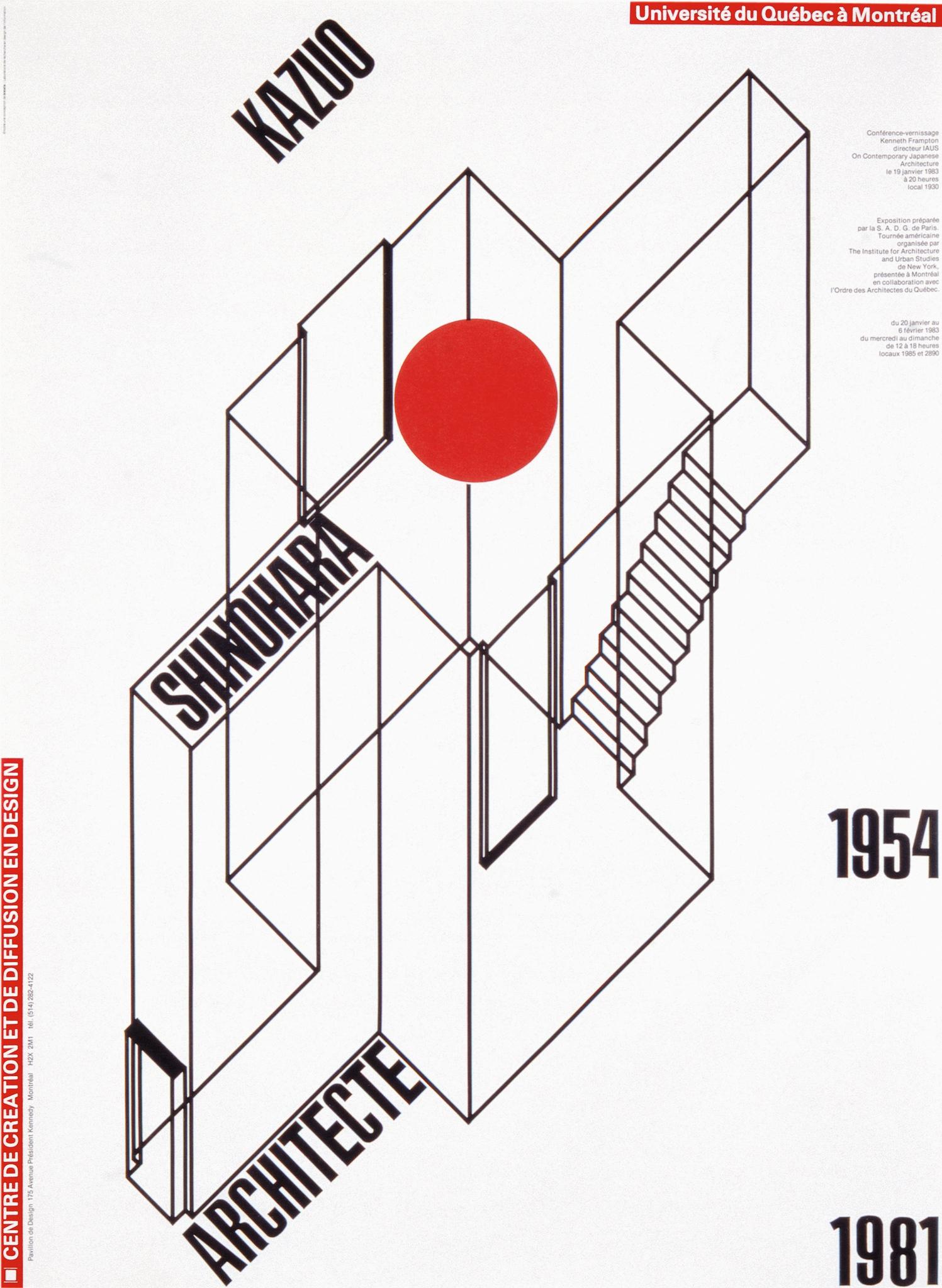 1983 - Exposition - Kazuo Shinohara architecte japonais 1954-1981 ©Alfred Halasa