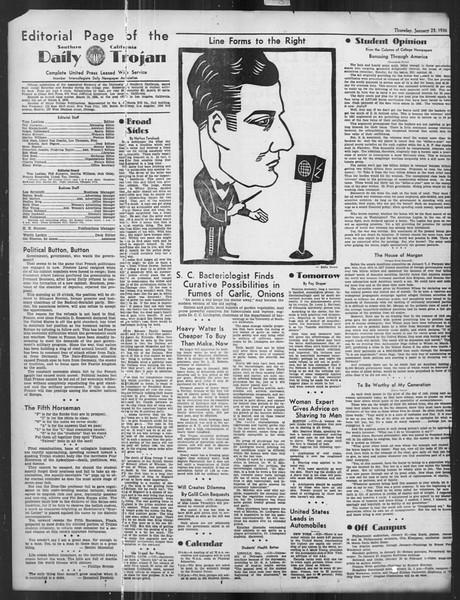 Daily Trojan, Vol. 27, No. 71, January 23, 1936