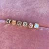 .78-.82ctw Asscher Stud Earrings, in Yellow Gold 10