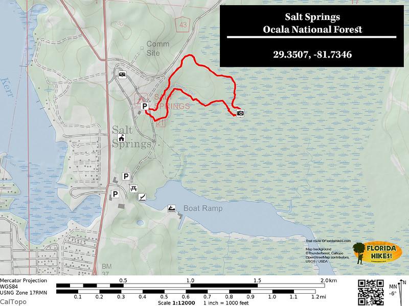 Salt Springs Recreation Area Trail Map